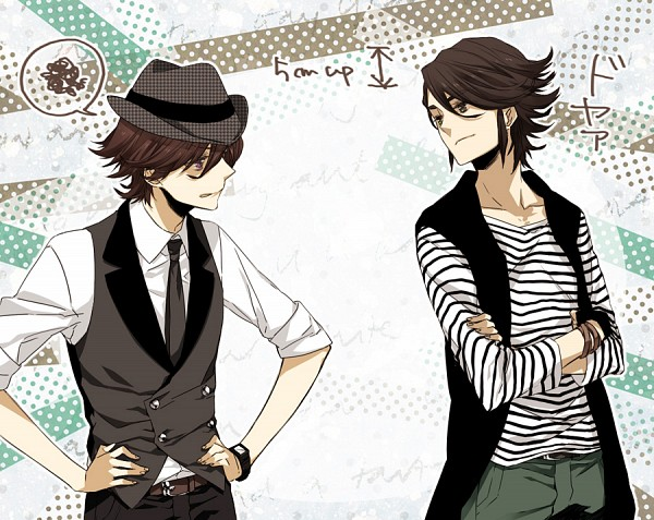 Tags: Anime, Moco, Kamen Rider Series, Kamen Rider W, Philip, Hidari Shoutarou, Fanart, Pixiv