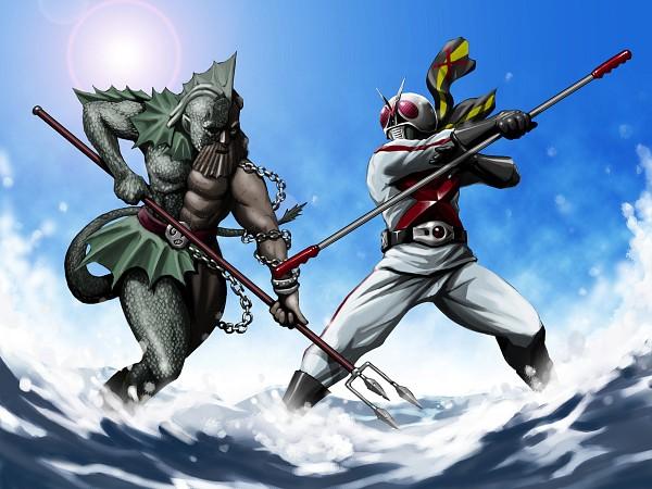 Tags: Anime, Pixiv Id 96441, Kamen Rider Series, Kamen Rider X, Kamen Rider X (Character), Kamen Riders