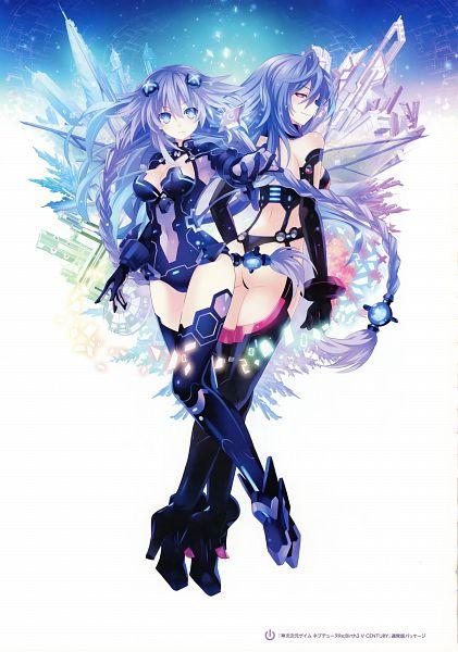 Tags: Anime, Tsunako, Felistella, Compile Heart, Neptune Series Hyperdimension Visual Chronicle, Choujigen Game Neptune, Kami Ji Jigen Game Neptune Re;Birth3 V CENTURY, Purple Heart, Pururut (Choujigen Game Neptune), Iris Heart, Neptune (Choujigen Game Neptune), Scan, Official Art, Hyperdimension Neptunia Re;birth3: V Generation
