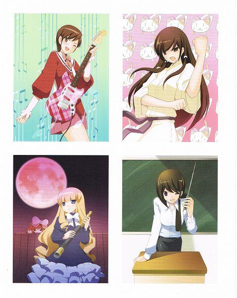 Tags: Anime, Wakaki Tamiki, Kami nomi zo Shiru Sekai, EVERY LOVELY ANGEL, Nagase Jun, Kujou Tsukiyo, Kosaka Chihiro, Kasuga Kusunoki, Vulcan, With Blouse, Slate, Telescope, Music Staff, The World God Only Knows