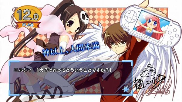 Tags: Anime, Hinoue Itaru, Kami nomi zo Shiru Sekai, Katsuragi Keima, Elsea de Lute Irma, End Cards, Kami nomi zo Shiru Sekai - End Cards, Wallpaper, HD Wallpaper, The World God Only Knows