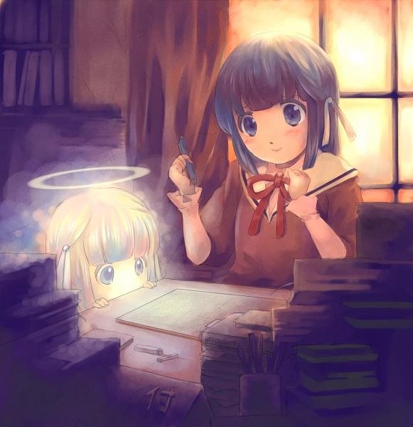 Tags: Anime, Ichi, Kami nomi zo Shiru Sekai, Minerva (KnzSS), Shiomiya Shiori, The World God Only Knows
