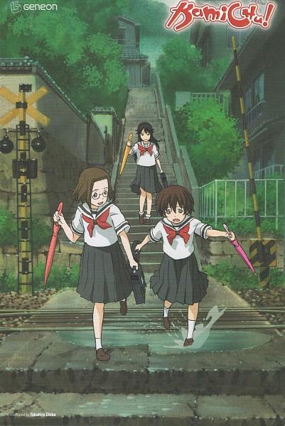 Tags: Anime, Kamichu, Saegusa Matsuri, Hitotsubashi Yurie, Shijou Mitsue, Official Art