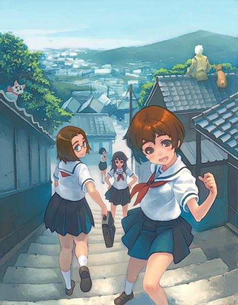 Tags: Anime, Weno, Kamichu, Tama (Kamichu), Hitotsubashi Yurie, Saegusa Miko, Shijou Mitsue, Saegusa Matsuri