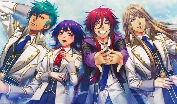 Tags: Anime, Kazuki Yone, Kamigami no Asobi, Loki Laevatin, Thor Megingjord, Balder Hringhorni, Kusanagi Yui, Wallpaper, CG Art