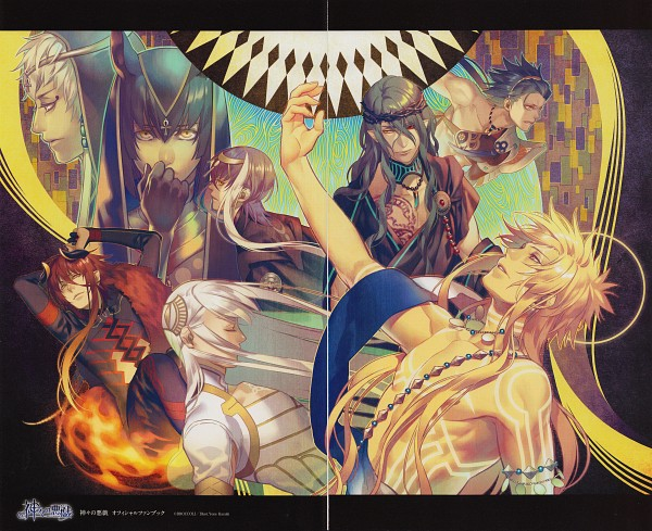 Tags: Anime, Kamigami no Asobi, Hades Aidoneus, Thoth Caduceus, Loki Laevatin, Anubis Ma'at, Apollo Agane Belea, Balder Hringhorni, Totsuka Tsukito, Totsuka Takeru, Egyptian Clothes, God