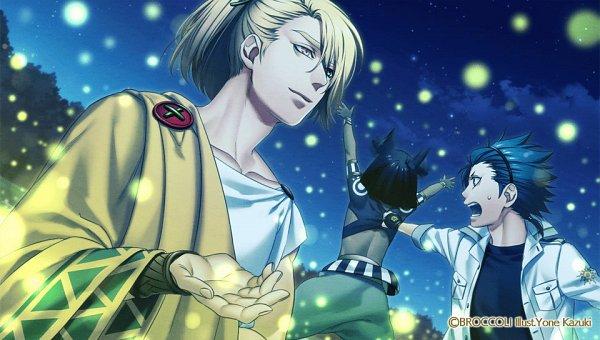 Tags: Anime, Kazuki Yone, BROCCOLI, Nippon Ichi Software, Kamigami no Asobi, Totsuka Takeru, Melissa (Kamigami no Asobi), Anubis Ma'at, CG Art, Official Art