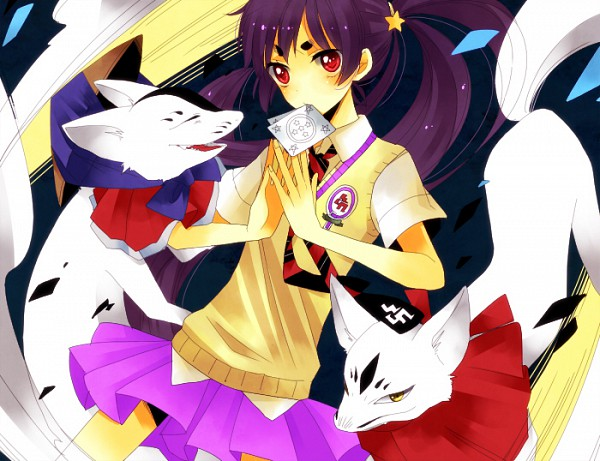 Tags: Anime, Pixiv Id 3045608, Ao no Exorcist, Mike (Ao no Exorcist), Kamiki Izumo, Uke (Ao no Exorcist), Pixiv, Fanart