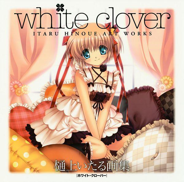 Tags: Anime, Hinoue Itaru, KEY (Studio), White Clover, Little Busters!, Kamikita Komari, Scan, Artbook Cover, Official Art