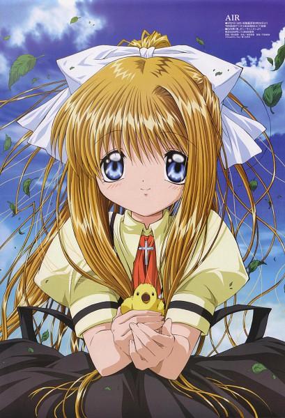 Tags: Anime, Aratani Tomoe, Kyoto Animation, AIR, Kamio Misuzu, Official Art, Scan, Mobile Wallpaper