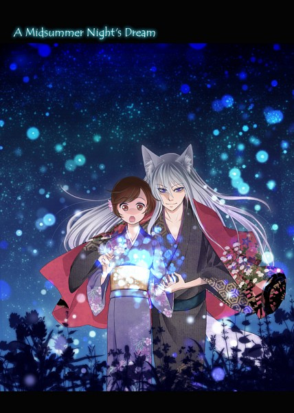 Tags: Anime, Pixiv Id 464096, Kamisama Hajimemashita, Tomoe (Kamisama Hajimemashita), Momozono Nanami, Pixiv, Mobile Wallpaper, Kamisama Kiss