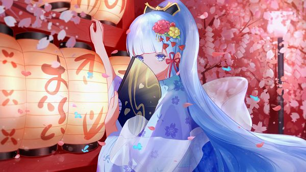 Tags: Anime, Pixiv Id 21050705, Genshin Impact, Kamisato Ayaka, Wallpaper