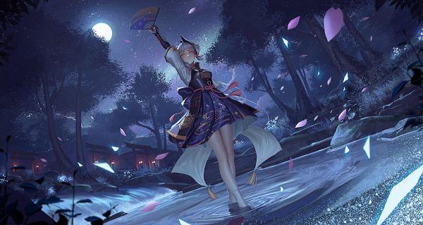 Tags: Anime, Pixiv Id 9566396, Genshin Impact, Kamisato Ayaka, Revision, Fanart From Pixiv, Pixiv, Fanart