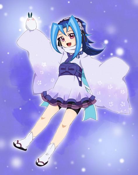 Tags: Anime, Pixiv Id 1603174, Yu-Gi-Oh!, Yu-Gi-Oh! ZEXAL, Kamishiro Rio, Ghostrick Yuki-onna (Cosplay), Yuki Onna, Snow Rabbit, Fanart, Pixiv, Fanart From Pixiv, Rio Kastle