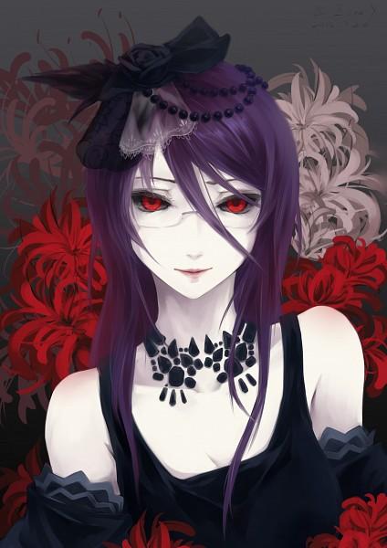 Tags: Anime, Bzerox, Tokyo Ghoul, Kamishiro Rize, Fanart From Pixiv, Mobile Wallpaper, Pixiv, Fanart