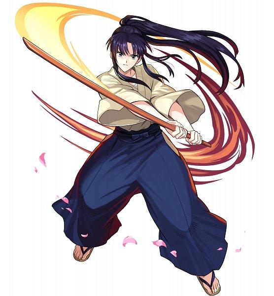 Tags: Anime, studioking, Rurouni Kenshin, Boku & Dragons, Kamiya Kaoru, Wooden Sandals, Shinai, Kendo Outfit, Official Art