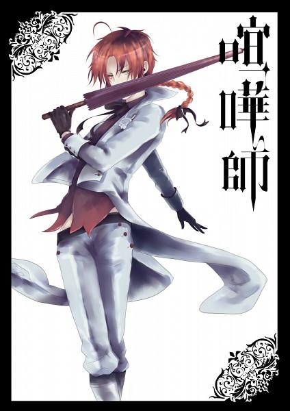Tags: Anime, Pixiv Id 2088279, Gintama, Kamui (Gin Tama), Charles Grey (Cosplay), Kuroshitsuji (Parody), Mobile Wallpaper, Pixiv, Fanart, Yato Clan