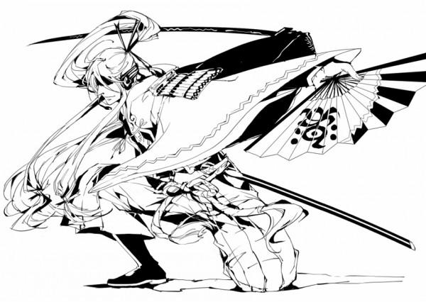 Tags: Anime, Usarika, VOCALOID, Kamui Gakupo, Line Art, Fanart, Pixiv
