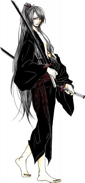 Tags: Anime, Pixiv Id 138075, VOCALOID, Kamui Gakupo, Loose Kimono, Pixiv, Fanart