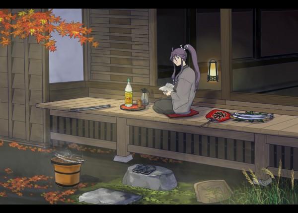 Tags: Anime, katagiri (artist), VOCALOID, Kamui Gakupo, Uchiwa, Porch, Japanese House