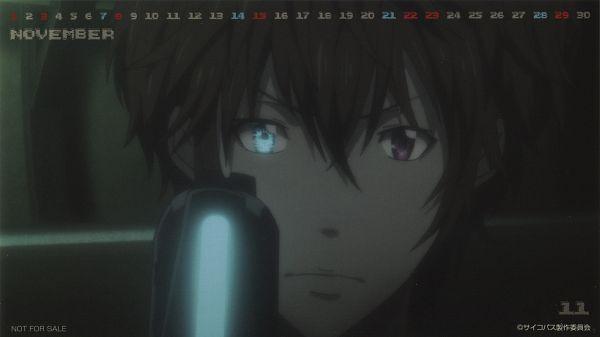 Tags: Anime, Tatsunoko Production, PSYCHO-PASS, PSYCHO-PASS 2 2015 Calendar, Kamui Kirito, Calendar 2015, Wallpaper, Calendar (Source), Official Art, Scan