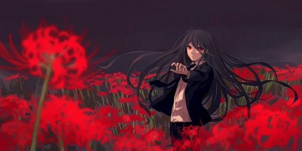 Tags: Anime, Mytyl S, Super Danganronpa 2, Kamukura Izuru, Twitter, Facebook Cover, PNG Conversion, Fanart