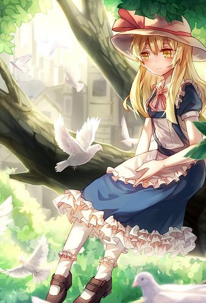 Tags: Anime, Pixiv Id 6047646, Touhou, Kana Anaberal, White Bird, Frilled Socks, Pixiv, Mobile Wallpaper, Fanart From Pixiv, Fanart, PNG Conversion, PC-98 Touhou Era