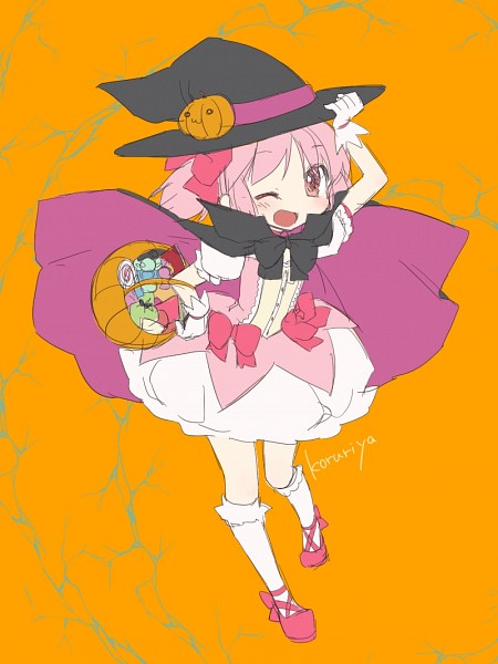Tags: Anime, Ko Ru Ri, Mahou Shoujo Madoka☆Magica, Kaname Madoka, Black Cape, Pixiv, Fanart From Pixiv, Fanart