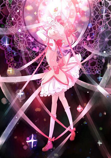 Tags: Anime, Hanada Hyou, Mahou Shoujo Madoka☆Magica, Kaname Madoka, Mobile Wallpaper, Fanart