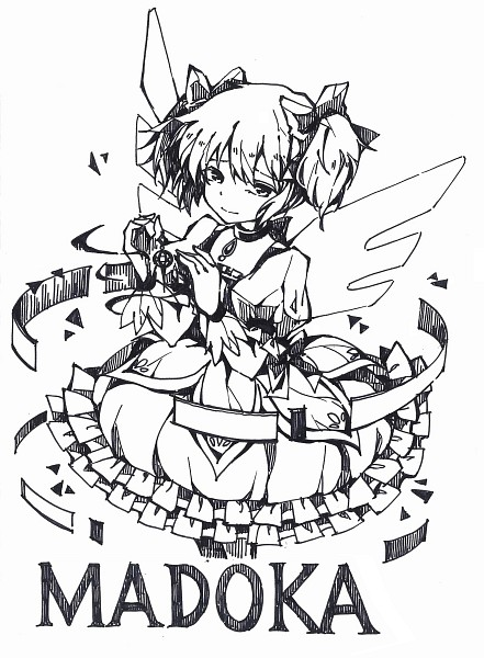 Tags: Anime, Nishigyou Teraa, Mahou Shoujo Madoka☆Magica, Kaname Madoka, Fanart From Pixiv, Mobile Wallpaper, Pixiv, Fanart