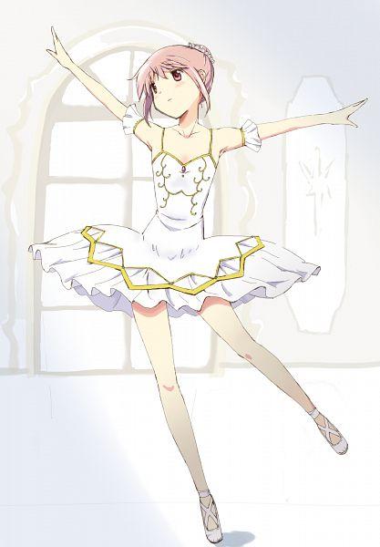 Tags: Anime, Kinfuji, Mahou Shoujo Madoka☆Magica, Kaname Madoka, Ballet Shoes, Ballerina Outfit, Ballet, Full Dress, Fanart From Pixiv, Fanart, Mobile Wallpaper, Pixiv