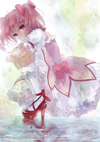 Tags: Anime, Pisuke, Mahou Shoujo Madoka☆Magica, Kaname Madoka, Puddle, Mobile Wallpaper, Pixiv, Fanart