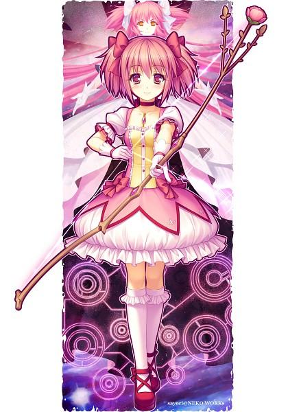 Tags: Anime, Sayori, Mahou Shoujo Madoka☆Magica, Moe Shoujo Ryouiki - Witch/stay night, Kaname Madoka, Ultimate Madoka, Comic Market, Sketch, Mobile Wallpaper, Scan, Comic Market 80, Pixiv