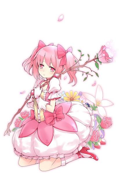 Tags: Anime, Kamoto Tatsuya, Mahou Shoujo Madoka☆Magica, Kaname Madoka, Blueberry, Mobile Wallpaper, Pixiv, Fanart