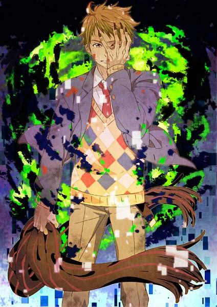 Tags: Anime, Mattsu, Kyoukai no Kanata, Kanbara Akihito, Fanart From Pixiv, Mobile Wallpaper, Pixiv, Fanart