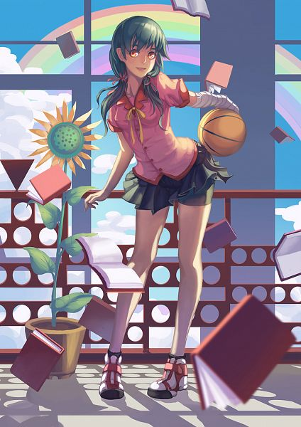 Tags: Anime, MadYY, Monogatari, Kanbaru Suruga, Bike Shorts, Mobile Wallpaper