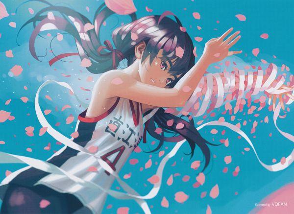 Tags: Anime, Vofan, Monogatari, Kanbaru Suruga, Scan, Official Art