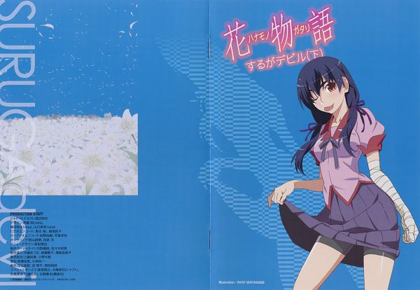 Tags: Anime, Watanabe Akio, Shaft (Studio), Monogatari, Kanbaru Suruga, ;P, Scan, Official Art
