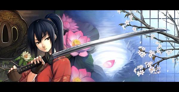 Tags: Anime, Kurojishi, D.Gray-man, Kanda Yuu, Spring, Facebook Cover, Pixiv