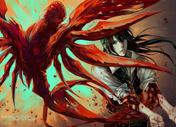 Tags: Anime, Hoshino Katsura, D.Gray-man, Kanda Yuu, Merychess, Colorization