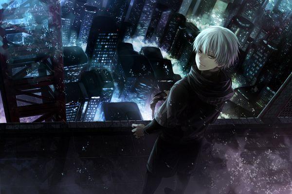 Tags: Anime, Xue Lian Yue, Tokyo Ghoul, Kaneki Ken, Skyscraper, Pixiv, Fanart, Fanart From Pixiv