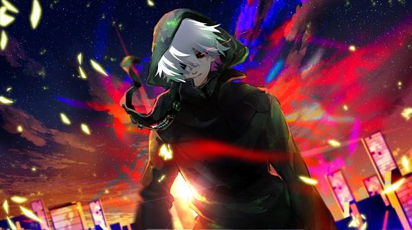 Tags: Anime, Daikingai, Tokyo Ghoul, Kaneki Ken, Move, Facebook Cover, Pixiv