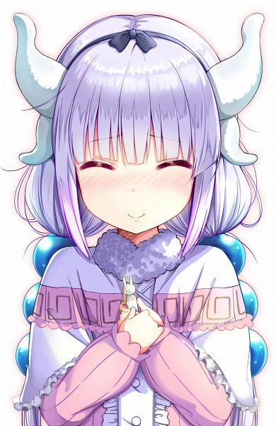 Tags: Anime, Sekiyu., Kobayashi-san Chi no Maid Dragon, Kanna Kamui, Mobile Wallpaper