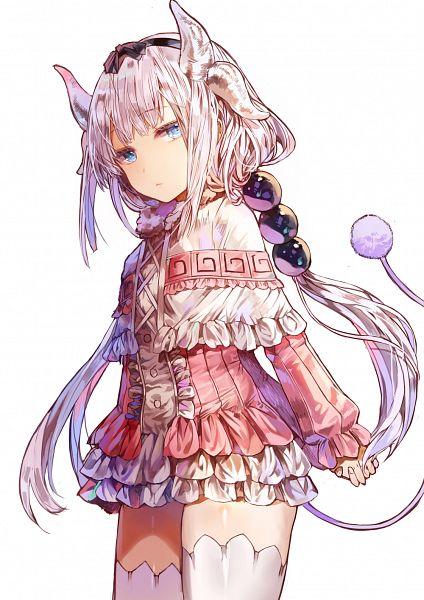 Tags: Anime, Pixiv Id 2345928, Kobayashi-san Chi no Maid Dragon, Kanna Kamui, PNG Conversion, Mobile Wallpaper