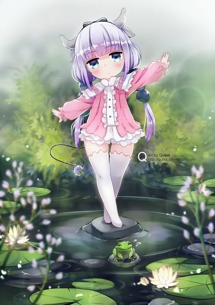 Tags: Anime, Quiss, Kobayashi-san Chi no Maid Dragon, Kanna Kamui, Mobile Wallpaper