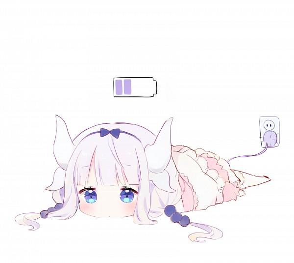 Tags: Anime, Pixiv Id 18102180, Kobayashi-san Chi no Maid Dragon, Kanna Kamui, Charging, PNG Conversion, Pixiv, Fanart, Fanart From Pixiv
