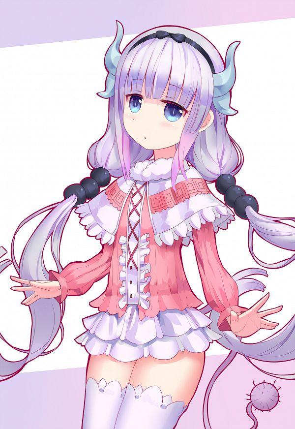 Tags: Anime, Pixiv Id 6461038, Kobayashi-san Chi no Maid Dragon, Kanna Kamui, Dragon Tail, Wallpaper