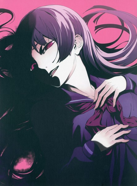 Tags: Anime, Maybe, Tasogare Otome x Amnesia, Kanoe Yuuko, Creepy Smile, Official Art, Scan, DVD (Source)