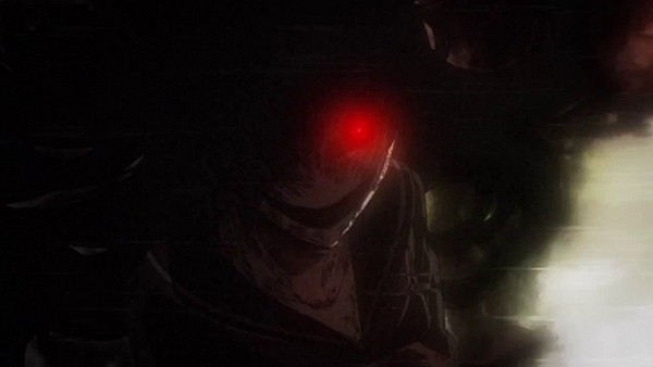 Tags: Anime, Tasogare Otome x Amnesia, Kanoe Yuuko, Shadow Yuuko, Creepy Smile, Screenshot