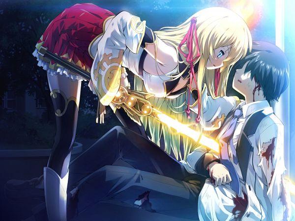 Tags: Anime, Escu:de, Kanojo Wa Sora Ni Inoranai, Ameno Wakahiko, Amaterasu (Kanojo Wa Sora Ni Inoranai), CG Art
